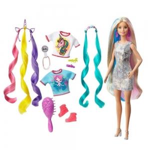 Кукла Barbie Fantasy Hair Радужные волосы, 29 см